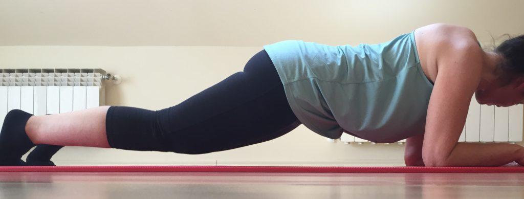 ejercicio lumbago plancha