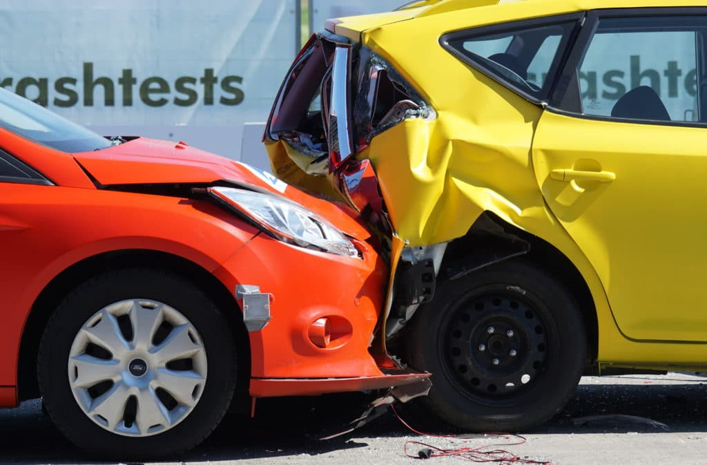 Accidente de tráfico latigazo cervical